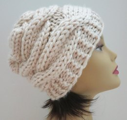 The Cayden Hat - Gorgeous Puffy Cables