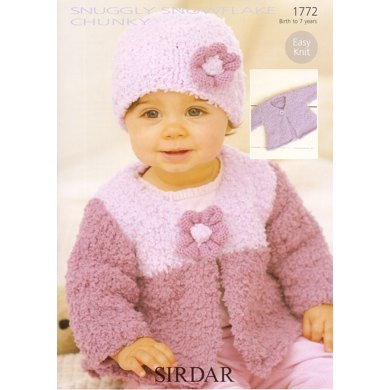 Cardigans and Hat in Sirdar Snuggly Snowflake Chunky - 1772