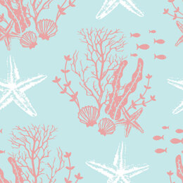 Craft Cotton Company Driftwood - Coral