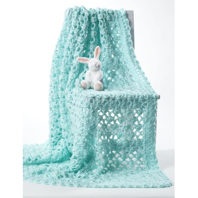 Crochet Baby Blanket In Bernat Softee Baby Solids Crochet Patterns