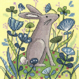 Heritage Hare Cross Stitch Kit - 12.5cm x 12.5cm