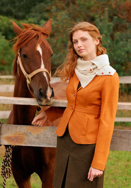 Button Up Cowl in Blue Sky Fibers Royal - Downloadable PDF