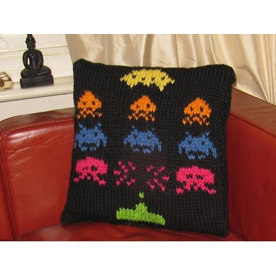 Superfast Retro Space Invaders Cushion