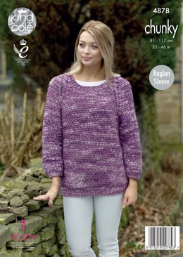 Jacket & Sweater in King Cole Big Value Tonal Chunky - 4878 - Leaflet