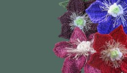 Collection of Clematis flower crochet