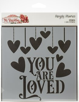 "Simple Stories Simple Vintage My Valentine Stencil 6""X6"" - 613132"