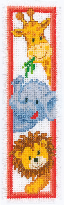 Vervaco Zoo Animals Bookmark Cross Stitch Kit - 6cm x 20cm