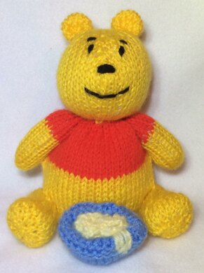 Winnie The Pooh Choc Orange Cover Toy Knitting Pattern By Andrew