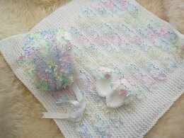 Pattern #41 Lace Blanket, Bonnet & Mittens