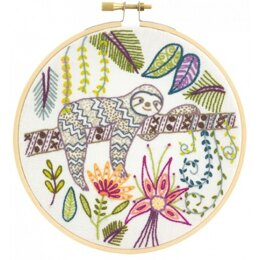 Un Chat Dans L'Aiguille Dede, Too Tired To Work Embroidery Kit