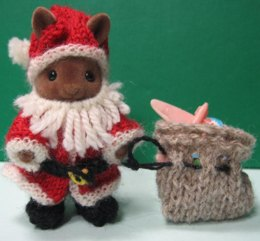 Santa, for Sylvanian Families & Calico Critters
