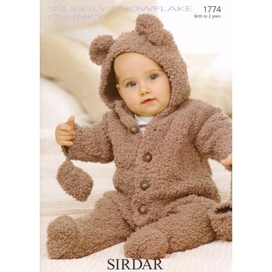 Sirdar Knitting Pattern Abbreviations : All-In-One and Mittens in Sirdar Snuggly Snowflake Chunky - 1774