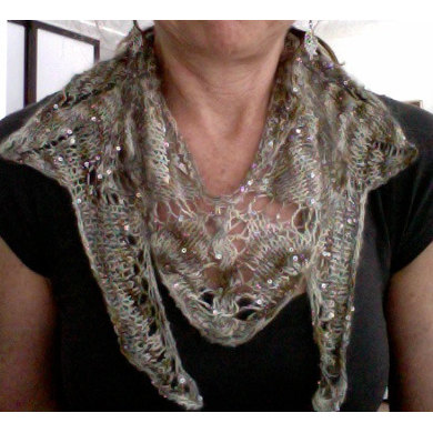 Queen of the Nile Scarf in Artyarns Beaded Mohair and Sequins - P139