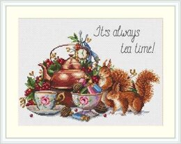 Merejka It's Always Tea Time Cross stitch kit - 26cm x 21cm