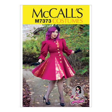 McCall's Fit and Flare or Godet Coats with Stand-Up Collar M7373 - Sewing Pattern