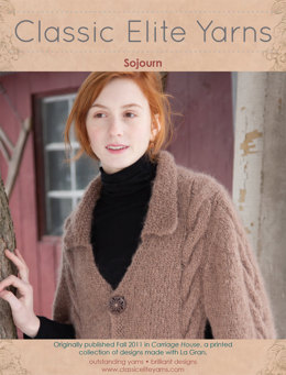 Sojourn Capelet in Classic Elite Yarns La Gran - Downloadable PDF