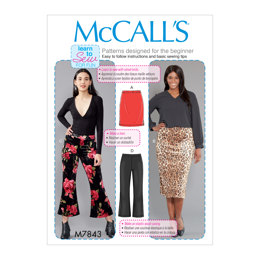 McCall's Misses'/Women's Skirts and Pants M7843 - Sewing Pattern