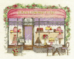 DMC Patisserie 14 Count Cross Stitch Kit - 30.9cm x 22.1cm - BK1542