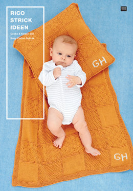 Decke & Kissen von Rico in Baby Cotton Soft DK - 96300.3009 - Downloadable PDF