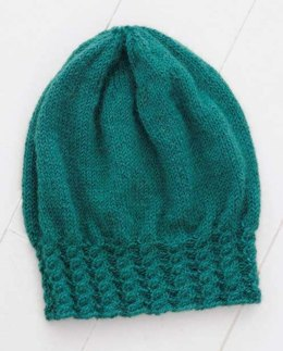 Cabled Slouch Hat in Blue Sky Fibers - T7 - PDF