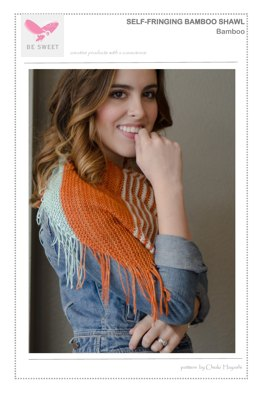 Self-Fringing Bamboo Shawl in Be Sweet Bamboo - Downloadable PDF