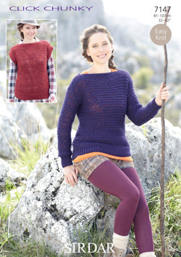 Sweater and Sleeveless Top in Sirdar Click Chunky - 7147