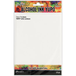 "Ranger Tim Holtz Alcohol Ink White Yupo Paper 10 Sheets - 5""X7"""