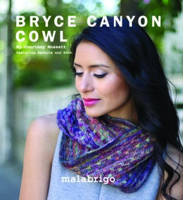 Bryce Canyon Cowl in Malabrigo Mechita - Downloadable PDF