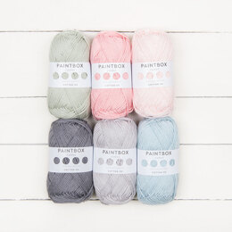 Posy + Petal by Sue Rawlinson - Paintbox Yarns Cotton DK 6 Ball Color Pack