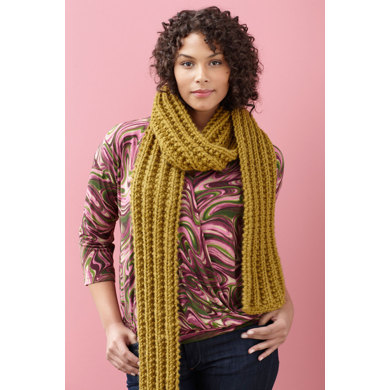 Brisbane Scarf in Lion Brand Wool-Ease Thick & Quick - 90619AD