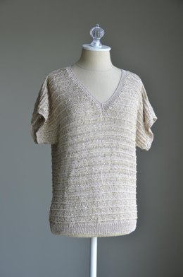 Inspired Dolman Top in Nazli Gelin Garden 5 & Rozetti Yarns Cotton Gold - 924 - Downloadable PDF
