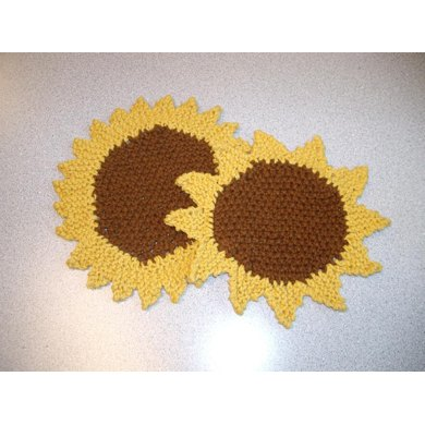 Sunflower Seedstitch Dishcloth