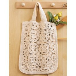 Tote Bag in Bernat Handicrafter Crochet Cotton - Downloadable PDF