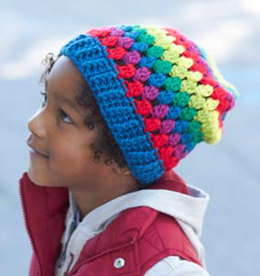Rainbow Granny Stripes Hat in Caron Simply Soft - Downloadable PDF