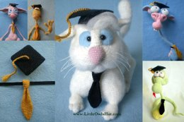 019 Graduation hat and tie for Amigurumi toys
