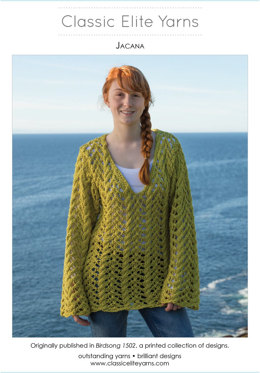 Jacana Pullover in Classic Elite Yarns Sprout - Downloadable PDF