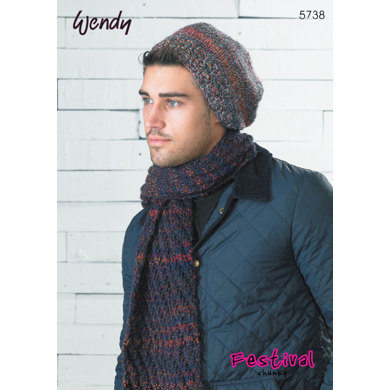 Scarf, Beanies, Headband and Wrist Warmers in Wendy Festival Chunky - 5738