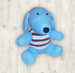 Dog Knitting Pattern, Knitted Dog
