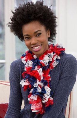 Patriotic Ruffles in Red Heart Boutique Sashay - LW4211