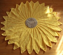 Sunflower baby blanket