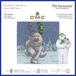 DMC The Snowdog - Fir Trees Cross Stitch Kit