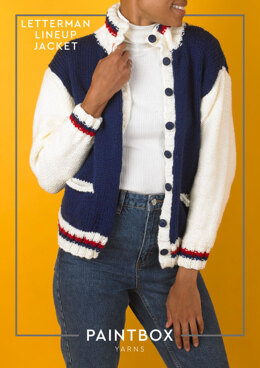 Letterman Lineup Jacket in Paintbox Yarns Simply Chunky - Downloadable PDF