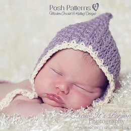 Vintage Style Baby Pixie Hat Crochet Pattern 266