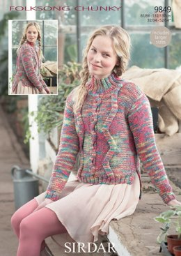 Sweater in Sirdar Folksong Chunky - 9849