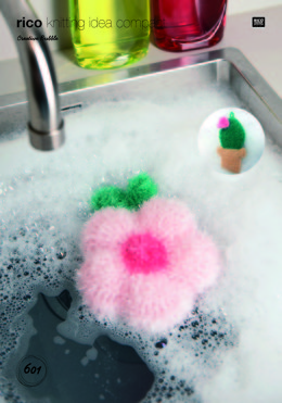 Cactus and Hibiscus Scrubbers in Rico Creative Bubble - 601 - Leaflet