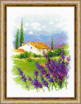 Riolis Farm in Provence Cross Stitch Kit - 18cm x 24cm