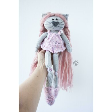 Beads jointed cat doll