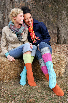 Two for One Socks in Spud & Chloe Fine - 9806