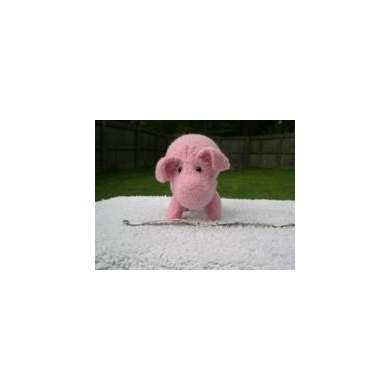 Knitted/Felted Pink Pig