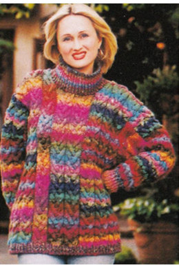 Textured Pullover in Noro Silk Garden